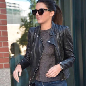Zara TRF Biker Genuine Leather Jacket